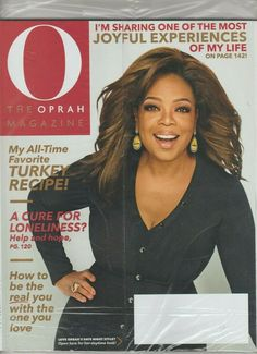 O The Oprah Magazine November 2019 Thanksgiving Special BRAND NEW SEALED Cure For Loneliness, O The Oprah Magazine, November 2019, Fashion Night, Of My Life, Equality, All About Time, Seal, The Cure