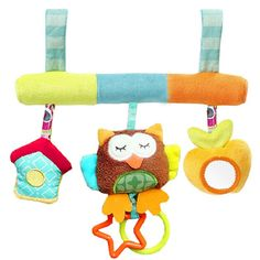 0-12 Month Cute Cartoon Animal Owl Early Educational Baby Rattle With Mirror Newborn Kids Bed Decoration Toys Creative Gift #Affiliate