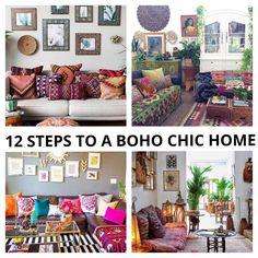 12 steps to a Boho Chic home