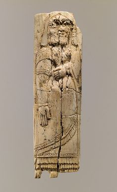Plaque METROPOLITAN  MUSEUM  Period:     Neo-Assyrian Date:     ca. 9th–8th century B.C. Geography:     Mesopotamia, Nimrud (ancient Kalhu) Culture:     Assyrian Medium:     Ivory