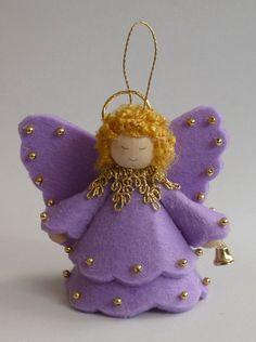 Pompom-Winterelf Pompom Little Angel (kleiner Troll). Christmas Angel Crafts, Christmas Angel Decorations, Unique Christmas Trees, Diy Christmas Ornaments, Christmas Art, Felt Angel, Handmade Angels, Fairy Dolls, Felt Crafts