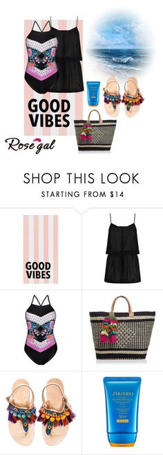 """""""Summer!!"""" by paoladouka ❤ liked on Polyvore featuring PBteen, ELIZABETH HURLEY beach, Mar y Sol, Elina Linardaki and Shiseido"""