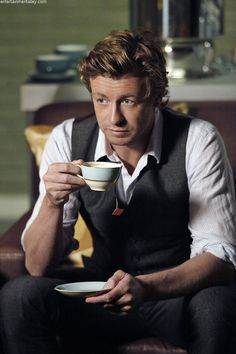 Jane's Trademark Cup of Tea #TheMentalist #SimonBaker