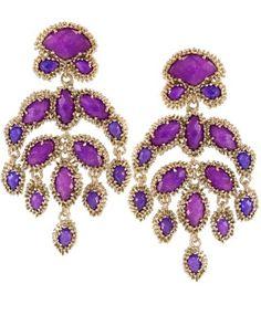Ashton Earrings in Purple