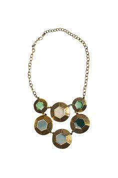 Shoptiques — Burnished Hexagon Necklace
