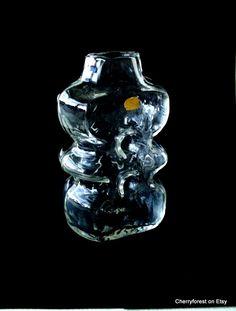 Jan Gabrhel vase for Chlum u Trebone, 1969, Czechoslovakia, Sklo by Cherryforest on Etsy