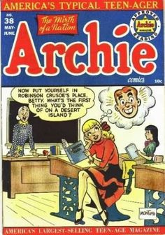 Archie 38 - Sexy Girl - Dreaming - Lecturer Shouting - In A Class Room - Teenager Archie Comics Characters, Archie Comic Books, Old Comic Books, Vintage Comic Books, Vintage Comics, Comic Book Covers, Comic Book Characters, Comic Character, Old Comics