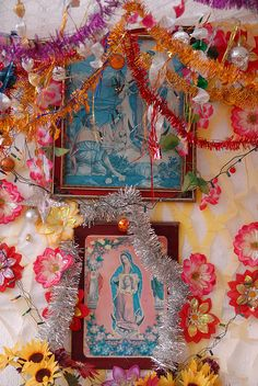 Guadalupe Altar outside the home of a fisherman on the Pacific coast of Guerrero, Mexico