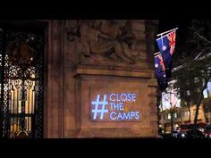 Australian Embassy in London Lit Up with Faces of Dead Refugees – Media Diversified