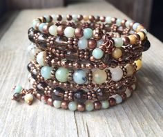 Copper Amazon Multi Strand Memory Wire Bracelet by McHughCreations