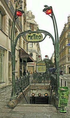 Paris, metropolitain.