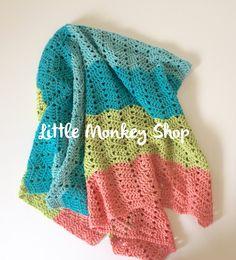 New to LittleMonkeyShop on Etsy: Crochet PATTERN Baby Blanket Baby Afghan Pattern Baby Crochet Pattern Blanket Crochet Pattern Beginners Crochet Pattern- Beach Baby Design (4.50 USD)