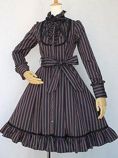 Victorian maiden レジメンタルストライプドレス