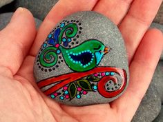 Gentle Thoughts / Painted Rock / Sandi Pike Foundas / Cape Cod