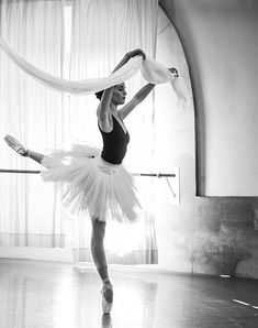 Amandine Albisson in rehearsal for La Bayadere