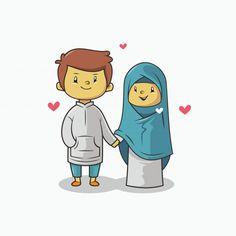 Cute muslim bride and groom cartoon for wedding card Vector Muslim Brides, Muslim Couples, Bride And Groom Cartoon, Wedding Art, Wedding Cakes, Wedding Ideas, Hippie Painting, Muslim Culture, Anime Muslim