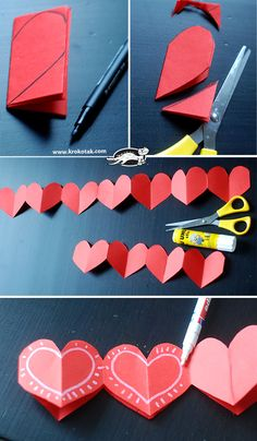 Paper crown of hearts