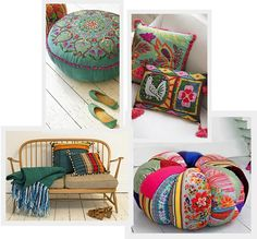 I bet I can make this lovely poof and throw pillows.