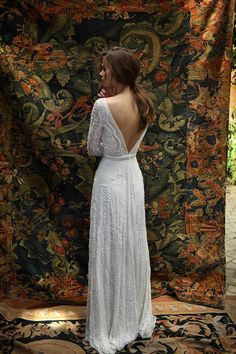 2016 Sexy Lace Long Sleeve Wedding Dresses Deep V Neck Open Back A Line Bridal Gowns Lihi Hod White Bohemia Boho Wedding Dress Custom Made Online Wedding Dress Sale Wedding Dresses From Rieshaneeawedding, $166.5| Dhgate.Com