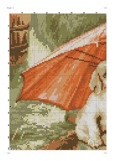 ожидание - Two Beagle Puppies Under an Orange Umbrella Cross Stitch Pattern Cross Stitch Numbers, Cross Stitch Bird, Cross Stitch Animals, Cross Stitching, Cross Stitch Patterns, Beagle Puppy, Dog Signs, Number Two, Plastic Canvas Patterns