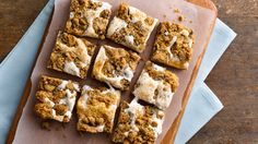 Marshmallow creme is the key to these ooey-gooey cookie bars. The hardest part is waiting for them to cool!