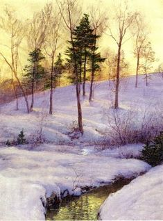 Walter Launt Palmer (American painter, 1854-1932) The Hillside