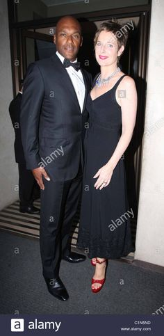 Download this stock image: Colin Salmon and Fiona Hawthorne at the Mayfair hotel for the leukemia charity dinner London, England - 30.06.09      : - C1N5ND from Alamy's library of millions of high resolution stock photos, illustrations and vectors.