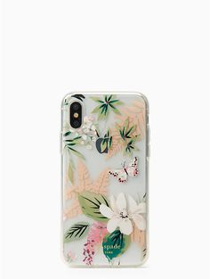 Kate Spade | jeweled botanical iPhone x case
