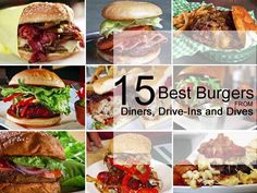 15 Best Burgers from Diners, Drive-Ins and Dives : Guy has traveled across the…