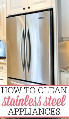 Get your stainless s Get your stainless steel appliances shiny...  Get your stainless s Get your stainless steel appliances shiny and smudge free with these simple tips for how to clean stainless steel appliances. Recipe : ift.tt/1hGiZgA And My Pinteresting Life | Recipes, Desserts, DIY, Healthy snacks, Cooking tips, Clean eating, ,home dec  ift.tt/2v8iUYW