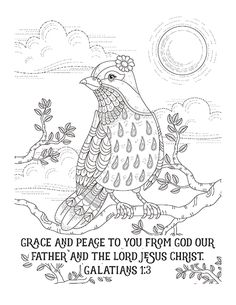 FREE PRINTABLE Christian coloring sheets with Bible verses. A new coloring sheet is posted every Friday. A great stress reliever and they look so pretty framed, from Scripture Images, Scripture Art, Bible Art, Bible Verses, Pattern Coloring Pages, Bible Coloring Pages, Coloring Books, Coloring Sheets, Doodle Coloring