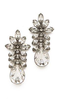 #bijou #mariage #TOM BINNS Madame Dumont Earrings with White Crystals