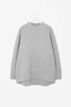 COS   Oversize high-neck sweatshirt