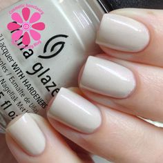 China Glaze - Sheer Bliss Neutral Nail Polish, China Glaze, Breast Cancer Awareness, Swatch, Bliss, Cosmetics, Celebrities, Collection, Enamels