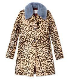 Valentino Ponyhair Leopard Coat