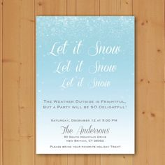 Let it snow holiday party invitation available now!