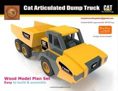 Cat Articulated dump truck by Lloydswoodtoyplans on Etsy