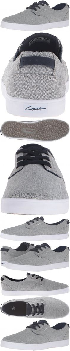C1RCA Men's Harvey Skateboarding Shoe, Steel/Dark Navy, 5 M US