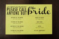 This brilliant way to send a clear message. | 25 Wedding Ideas To Fall In Love With In September