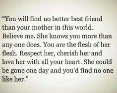 No better best friend than a mother