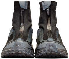 11 by Boris Bidjan Saberi - Black & Grey Salomon Edition Bamba 2 Sneakers