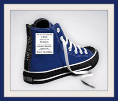 0b435d62188 Custom Designed Doctor Who Tardis Inspired Converse Sneakers