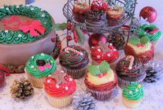 ローラズカップケーキビビッドな赤と緑のクリスマス限定品の発売を開始