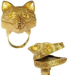 lipbalm inside this ring! Andrea Garland - Le Renard Ring - Small Size 6 - 1 pc