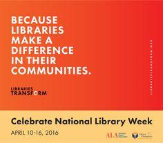 National Library Week 50 strategies to commemorate