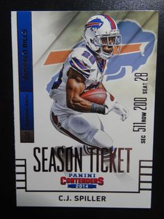 2014 Panini Contenders Season Ticket #12 C.J. Spiller Buffalo Bills Card  #BuffaloBills
