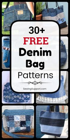 Newest Absolutely Free sewing bags crossbody Style Denim Bag DIY. Over 30 free denim bag & purse patterns, tutorials, and diy sewing projects, mostly Denim Bag Patterns, Bag Patterns To Sew, Purse Patterns Free, Denim Tote Bags, Diy Tote Bag, Goyard Tote, Celine Tote, Crossbody Tote, Denim Bag Tutorial