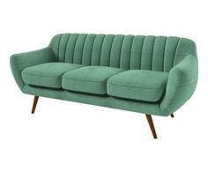 DIEGO birch wood sofa, celadon blue and natural – - Home Page Vintage Sofa, Retro Sofa, Design Bleu, Canapé Design, Chair Design, Living Room Sofa Design, Living Room Designs, Bleu Celadon, Royal Furniture