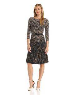 Anne Klein Women's Fairisle Jersey Swing Dress - Listing price: $119.00 Now: $89.25