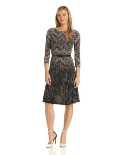 Anne Klein Women's Fairisle Jersey Swing Dress - Listing price: $119.00 Now: $89.25